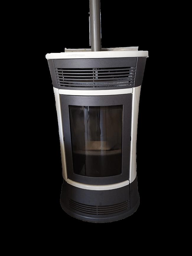 image d'un poêle à granulé qui permet de chauffer facilement une maison (même plusieurs pièces)