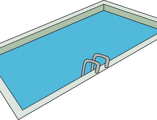 une representation d'une piscine rectangulaire