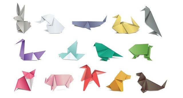 Des créations en origamis (pliages)