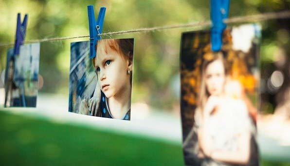 Des photographies prêtent a etre utilisé en scrapbooking