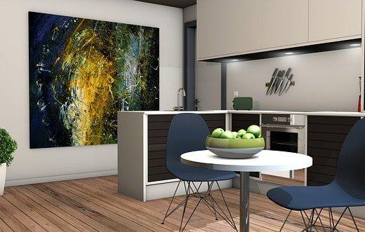 une cuisine de petite dimension